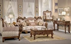 HD-275 Victorian Inspired Luxury Formal Living Room Sofa