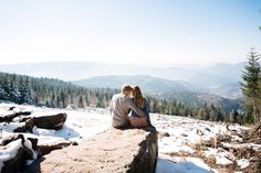 Black Forest Love Session in the mountains by Julia Hofmann