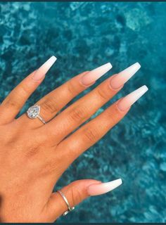 Nails Best Nail Salons in LA . Acrylic Nails Best Nail Salons in LA . - -Acrylic Nails Best Nail Salons in LA . - - pretty acrylic coffin nails design you need to try 57 Summer Acrylic Nails, Best Acrylic Nails, Ballerina Acrylic Nails, Acrylic Nails Coffin Ombre, White Coffin Nails, White Acrylic Nails With Glitter, Ballerina Nails Shape, Acrylic Nails For Holiday, Spring Nails