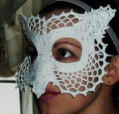 Ravelry: Lace Owl Masquerade Mask pattern by Farrah for 365 Crochet