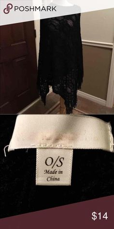 Francesca's poncho This soft knit black poncho is in excellent condition! No stains, rips or tears. Would look great with leggings and boots! Francesca's Collections Sweaters Shrugs & Ponchos