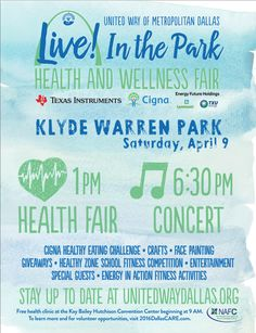 Live! In the Park Health and Wellness Fair