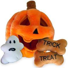 Halloween Pumpkin Puzzle Plush Interactive Dog  Toy