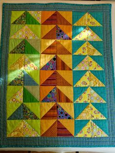 """Cotton Patchwork: Quilt """"Flight of the Wild Geese"""" - Flying Wild geese quilt"""