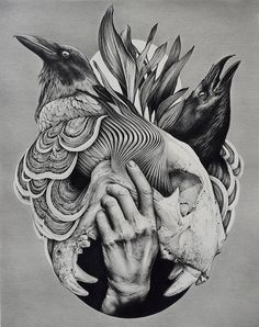 Creepy Drawings, Art Drawings, Boxing Gloves Drawing, New Tattoo Designs, Illustration Art Drawing, Surrealism Painting, Masks Art, Wolf Tattoos, Gothic Art