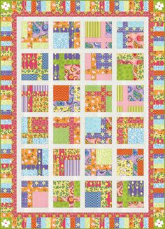 Topiary Tiles Free Pattern: Robert Kaufman Fabric Company