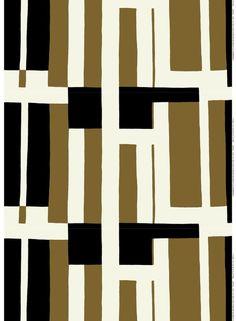 MAIJA ISOLA, Attika, continuous fabric pattern, 1959. Material silkscreen printed cotton manufactured by Marimekko Oy, Finland. / Finnstyle