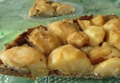 Ma petite cuisine gourmande sans gluten ni lactose: Tarte au pommes sur un fond de tarte à la châtaign...
