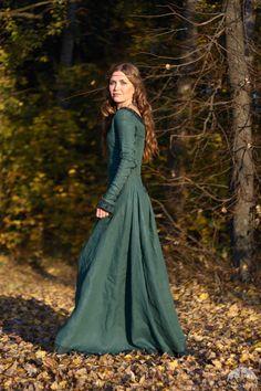 """Linen Dress """"Autumn Princess"""""""