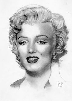 Marilyn Monroe by claireff1 || This image first pinned to Marilyn Monroe Art board, here: http://pinterest.com/fairbanksgrafix/marilyn-monroe-art/ || #Art #MarilynMonroe