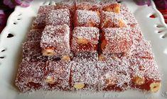 λουκουμια ροδιού0 Krispie Treats, Rice Krispies, Greek Desserts, Deserts, Sugar, Recipes, Beaded Bracelets, Food, Essen