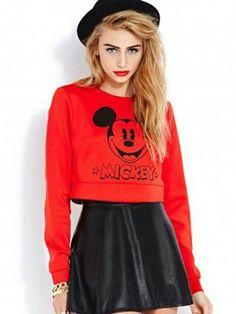 #fashion #skirt #skirts #skater #skaterskirt , Gorgeous jumper - #mickey mouse, red lipstick, blonde hair