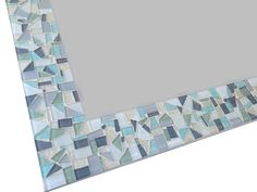 Mosaic Mirror // Neutral White Gray and by GreenStreetMosaics, $150.00