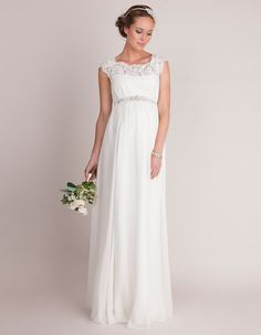 d0ad23bd2ab Ivory Silk   Lace Maternity Wedding Dress