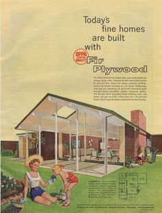 1958 Douglas Fir Plywood Association Ad featuring an Eichler Home