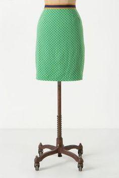 Pin-Dot Pencil Skirt at Anthro $149