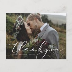 Wedding Thank You Postcards, Save The Date Postcards, Wedding Cards, Wedding Rsvp, Wedding Engagement, Wedding Planner, Thank You Photos, Love Photos, Zazzle Invitations