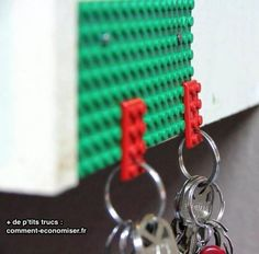 50 Creative Ways to Repurpose, Reuse and Upcycle Old Things --love the lego key holder and the ketchup bottle pancake batter dispenser. Upcycled Crafts, Repurposed, Diy And Crafts, Lego Key Holders, Do It Yourself Organization, Ideias Diy, New Uses, Everyday Items, Everyday Objects