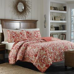 #TommyBahama Palma Sola #Quilt. #bed #bedding #beddingstyle #coral