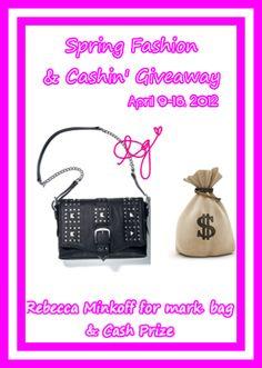 Spring Fashion & Cashin' Giveaway: Rebecca Minkoff Bag and Cash Giveaway!