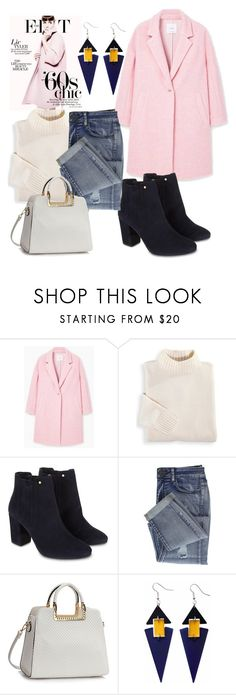 """""""pink coat"""" by theminimalist01 ❤ liked on Polyvore featuring MANGO, Blair, Monsoon and Toolally"""