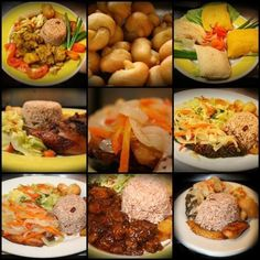 Typical Jamaican food.