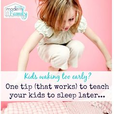 One simple and easy trick to get your kids to stay in bed until it's time to get up.