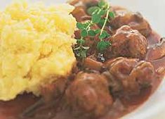Country French Meatballs recipe from Food in a Minute - Meal ideas - Mince Recipes, Meatball Recipes, Food In A Minute, Cheap Family Meals, Country French, French Food, Food To Make, Stuffed Mushrooms, Food And Drink