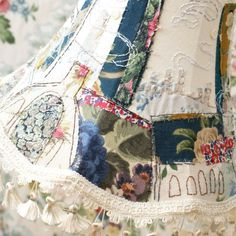 Hand embroidery by textile artist Marna Lunt. Marna uses hand embroidery to paint pictures with thread, portraits, cityscapes and embroidered lampshades. Sue Ryder, Lampshades, Lampshade Ideas, Textile Artists, Hand Embroidery, Interview, Textiles, Quilts, Sewing