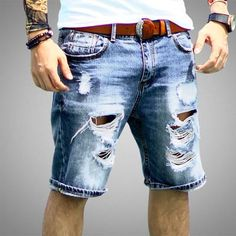 Buy from us Men's Shorts Casual Length Bermuda Hole Summer. Get a discount for the entire collection Men's Shorts . 80s Ladies Fashion, 80s Men's Fashion Trends, Mens Fashion, Disco Fashion, Rock Fashion, Fashion Ideas, Luxury Fashion, Casual Shorts Outfit, Mode Cool