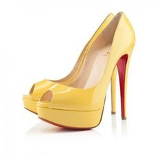 Perfect Christian Louboutin Lady Peep Toe Pumps Canari, Perfect You Patent Shoes, Peep Toe Shoes, Women's Shoes, Cheap Christian Louboutin, Red Heels, Pumps Heels, High Heels, Louboutin Pumps, Stilettos