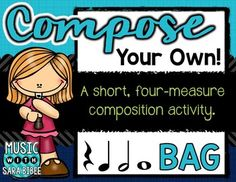 This freebie is featured in the Music in Our Schools Month Melody eBook! (Release Date 3.23.15)This free resource is a way to engage your students in beginning composition. The resource is intended for use in the recorder classroom, but is not recorder-specific and can be used in other classes as well.