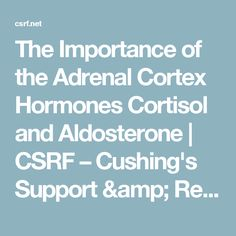 The Importance of the Adrenal Cortex Hormones Cortisol and Aldosterone | CSRF – Cushing's Support & Research Foundation