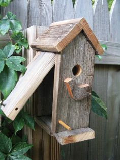 The Chickadee  Birdhouse Wren House Natural & Rustic All