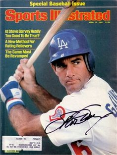 This is a April 1982 Sports Illustrated that has been personally signed by Steve Garvey. Garvey was a First Baseman who played his entire career on the Los Angeles Dodgers and San Diego Padres. He is a All-Star, World Series Champion, and 1974 NL MVP. Baseball Star, Dodgers Baseball, Baseball Players, Baseball Cards, Sports Stars, Si Magazine, Magazine Covers, Sports Magazine, Sport