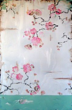 """Kathe Fraga Art, www.kathefraga.com My painting, """"Remembering"""", joins the cast of """"13 Reasons Why"""". My work is inspired by the romance of vintage French wallpapers and Chinoiserie with a modern twist. 36x24 on frescoed canvas."""