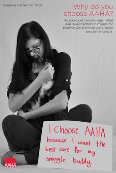 Snuggle buddies. Why do you choose AAHA?