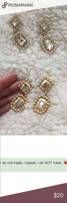 Rhinestone earrings Worn only once for a few hours. Charming Charlie Jewelry Earrings