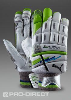 Puma Pulse 5000 RH Batting Glove - Right Hand - Batting Equipment - White- Green-Blue 267d1f040f837