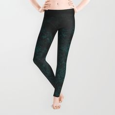 Into the Mist-ic Leggings. Dark, smoky, aqua blues...smooth and swirly. Some might even say wispy