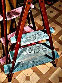 old crutch shelves