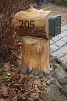 I call this a Hobbit mailbox or things to do with fallen trees.