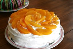 I Thee Cook: Peaches and Cream Cake-uses cake mix Peaches And Cream Cake Recipe, Best Cake Recipes, Favorite Recipes, Tastee Recipe, Peach Cake, Kitchen Recipes, Cakes And More, Sweet Treats, Baking