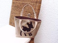 """Bambi """"Shopper"""" für Mädls    Kindertasche    ♥♥    eine Augenweide dieser Shopper ♥♥♥    mit zwei Henkel und Knopf zum schließen ♥♥♥    Feincord beige"""