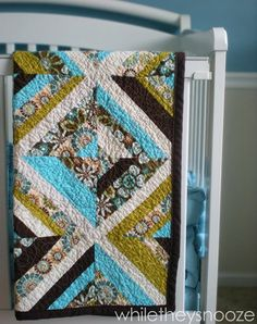 One pinner said : A quilt tutorial that is easy to follow for a beginners-  I, personally,  like the colors used in this quilt.