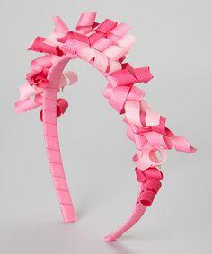 Pink Korker Bow Headband