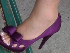 hot purple wedding shoes...