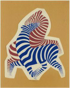 Victor Vasarely - Two Zebras