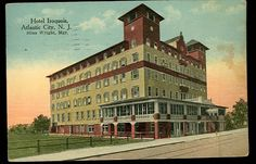 1915 ATLANTIC CITY NJ pc - HOTEL IROQUOIS - New Jersey PostCard - Silas Wright