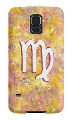 """""""Zodiac sign : Virgo"""" Samsung Galaxy Cases & Skins by Savousepate on Redbubble #galaxycase #phonecase #galaxyskin #phoneskin #astrology #astrologicalsign #zodiacsign #virgo #yellow #pink #white #watercolorpainting"""